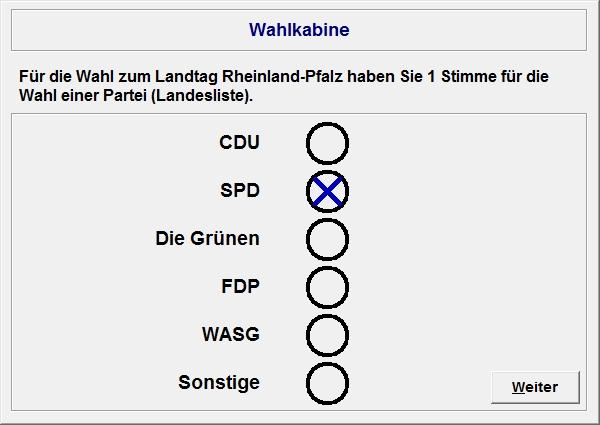 Ballot (single vote).